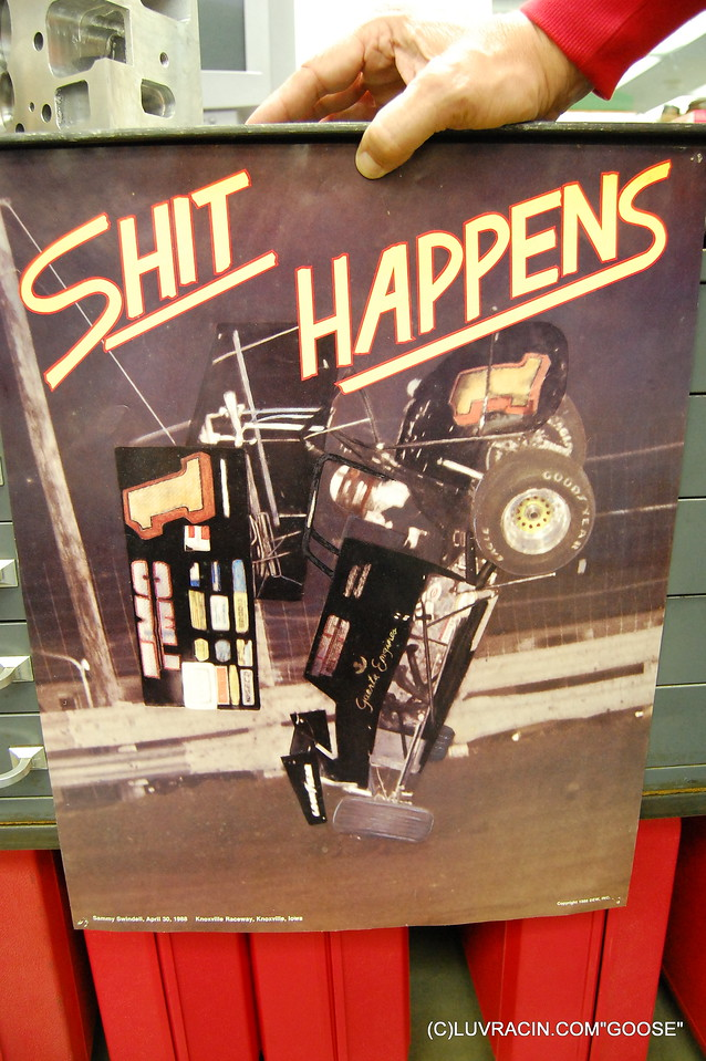 SHIT HAPPENS BY SAMMY SWENDELL (C) 1988 DEW . INC KNOXVILLE RACEWAY , KNOXVILLE  , IOWA