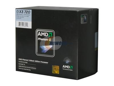 AMD Phenom II X3 720 2.8GHz 3 x 512KB L2 Cache 6MB L3 Cache Socket AM3 95W Triple-Core Black Processor