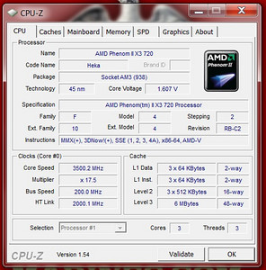 Overclock at 3500 mhz