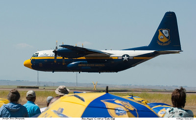 Blue Angels' C-130 During Take Off