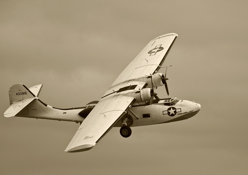 Consolidated PBY 5A Catalina at Duxford 2011. A beautiful aircraft and an amazing sound!