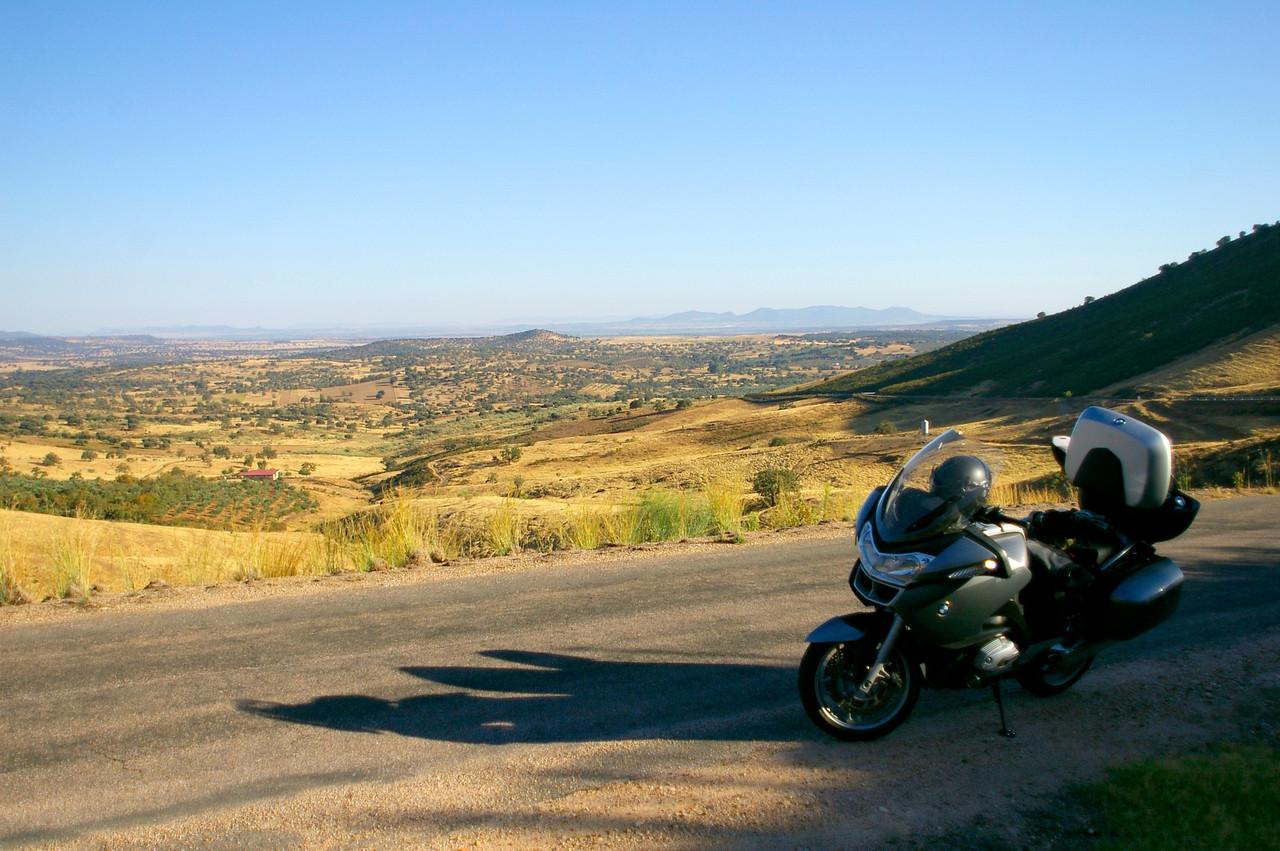 My Beemer. Somewhere between Logrosan and Berzocana, Extremadura, Spain