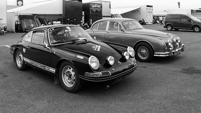 Porsche and Jaguar  -  Silverstone Classic 2018