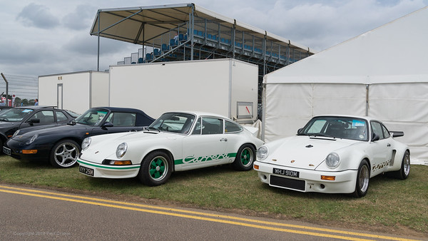 Porsche Clubbing 911's  behind the stand -  Silverstone Classic 2019