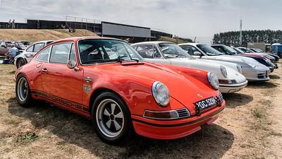 Orange Porsche  911 - Silverstone Classic 2018