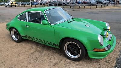 Green Porsche 911 - Silverstone Classic 2018