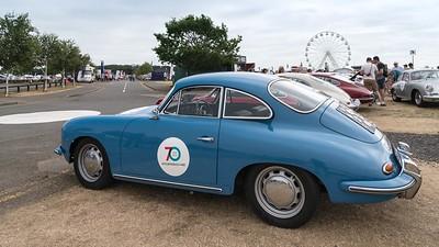Blue Porsche 356 - Silverstone Classic 2018