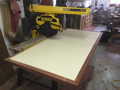 Radial saw aids and fixtures