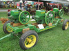 An assortment of John Deere Hit-n-Miss engines