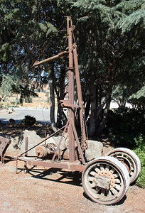 Antique crane. Casa de Fruta, Pacheco Pass, Ca. 2 Jul 2008.