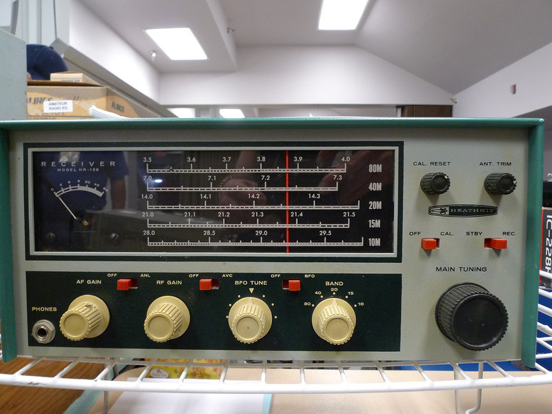 I had a Heathkit receiver as my first short-wave radio. It was not the same model as this (it was about 10 years newer), but it had a vaguely similar look. I could tell this was a Heath product when it first caught the corner of my eye.