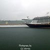 Royal Caribbean & Disney in the rain at Port Canaveral