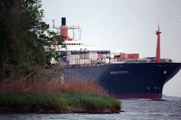 Merchant Ships in the Savannah River