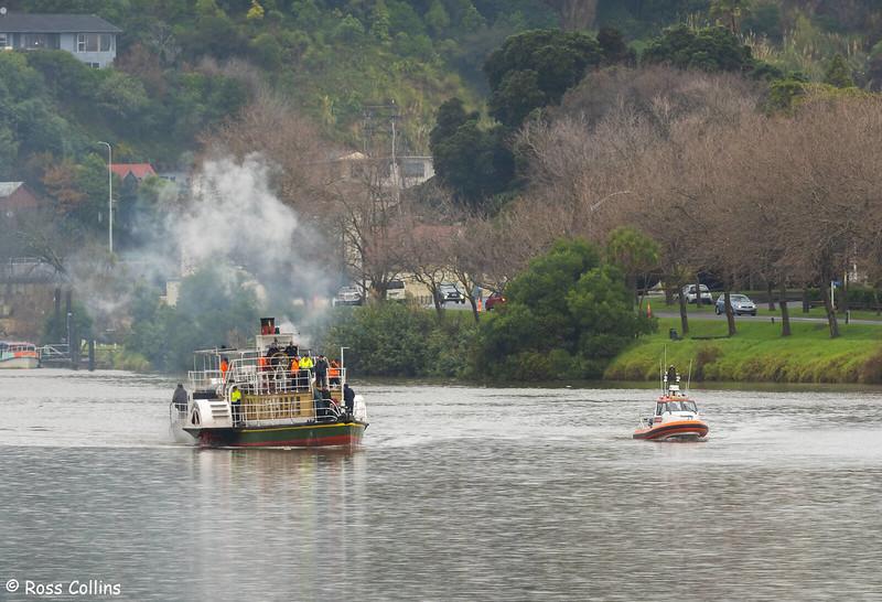 Slipping of 'PS Waimarie', Whanganui, 27 June 2021