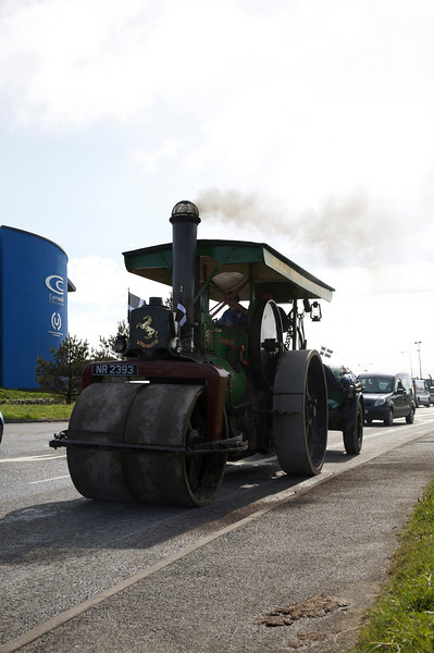steam roller taken into the light