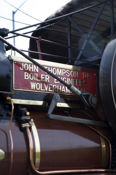 closeup of steam engine