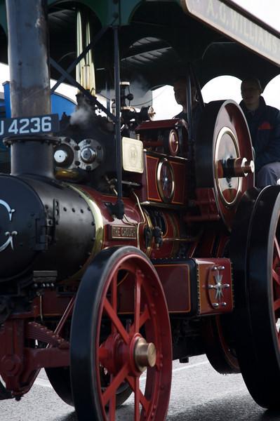 steam engine close up