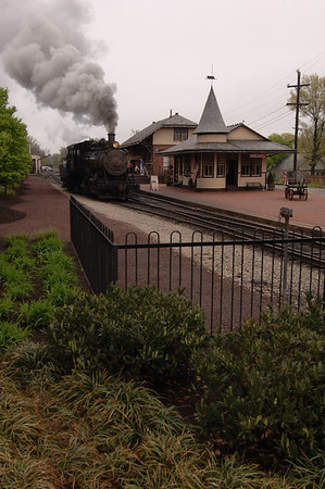 Steam Locomotive at New Hope Station