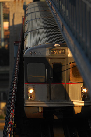 High-Speed Train on Ben Franklin Bridge
