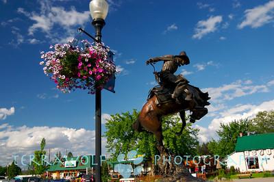 A cowboy statue...