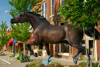 A beautiful piece of horse statue