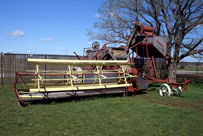 Old combine in Lawton, OK.