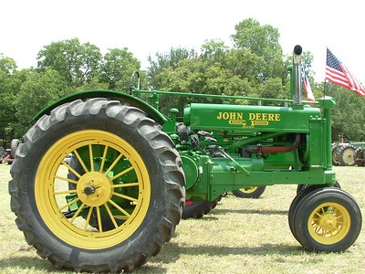 A John Deere General Purpose tractor at the show in Glen Rose, Texas