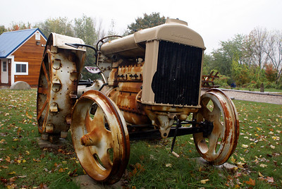 Fordson tractor in North Conway, New Hampshire