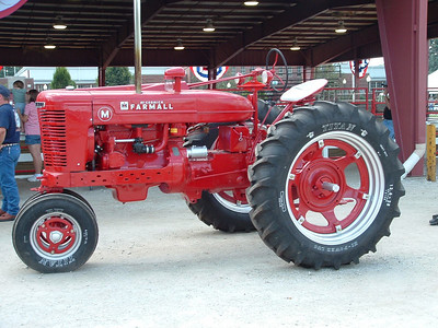 Restored Farmall tractor at the Iowa State Fair 2005.