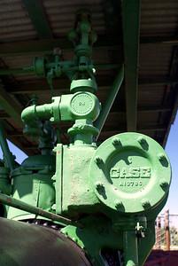 Case steam tractor boiler detail in Lawton, OK.