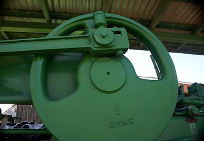 Flywheel on Case steam tractor in Lawton,OK.