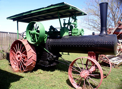 Case steam tractor on display at the Museum of the Great Plains in Lawton, OK.