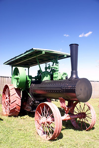 Case steam tractor in Lawton, OK.