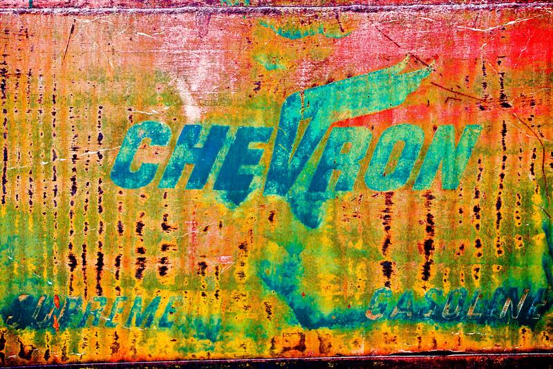 Chevron, Faded.