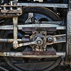 Detail of a steam locomotive in Essex, CT