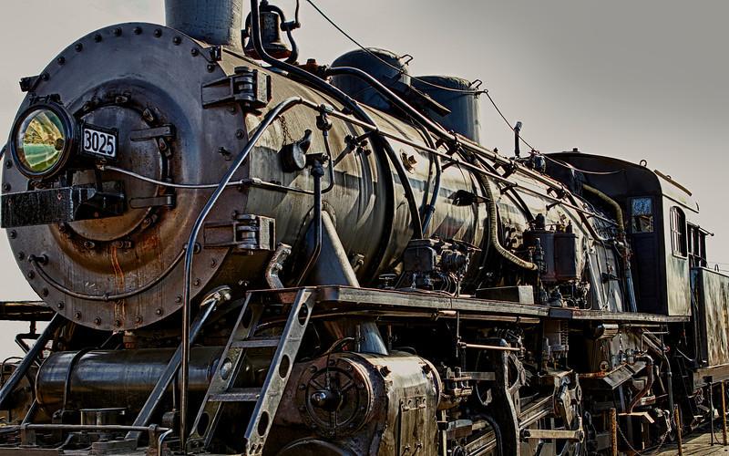Vintage steam locomotive in Essex, CT