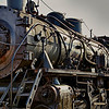 Vintage steam locomotive in Essex, CT