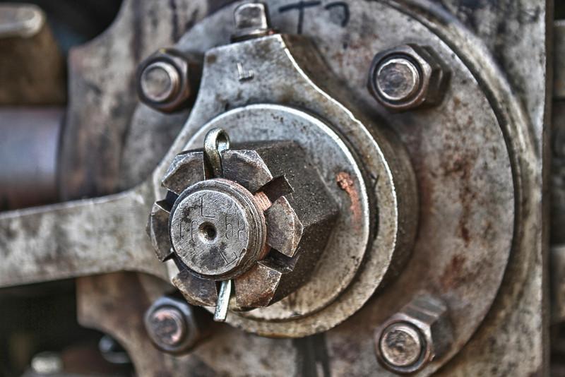 Detail of steam locomotive. Essex, CT