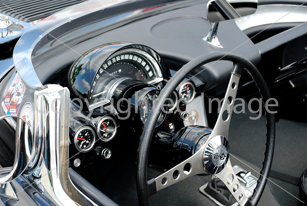 Corvette dashboard.