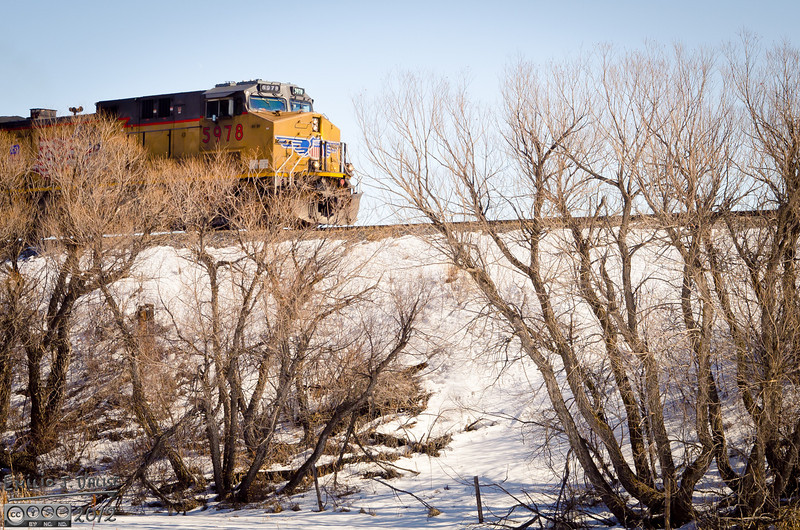 On my way to photographing a nearby railroad trestle, I had the opportunity to photograph a passing train . . .