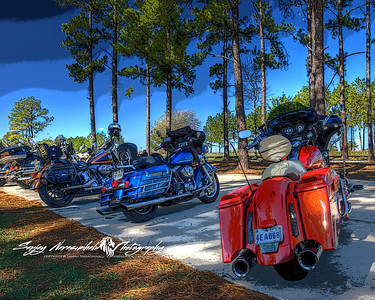Bikes at Drifters Ice House in Sam Houston Park, November 2011