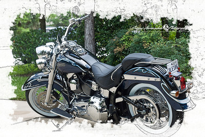 Harley Davidson Soft Tail Deluxe, The Woodlands, Texas June 29, 2007 (My first motorcycle)