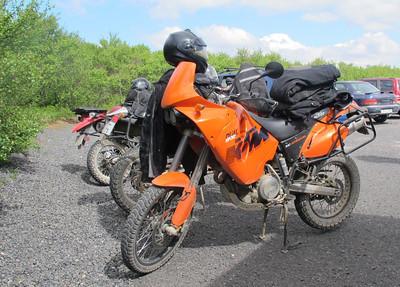 Moto orange en Islande