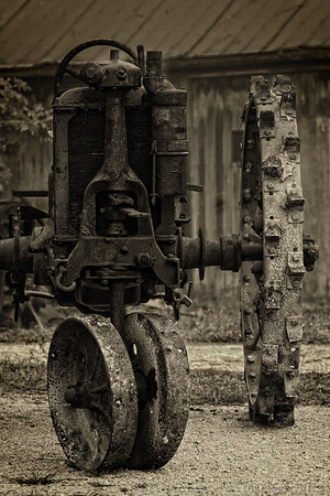 Another old tractor showed up just like this so I had to capture it! This image has some tension built in it. Have a great day - JY