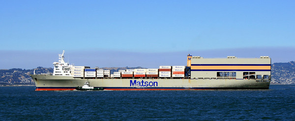 Container Ship, San Francisco Bay, 30 Jun 2008.