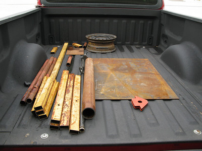 Here is the result of my first trip to the scrap yard.
