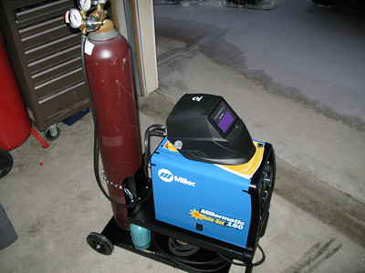 Okay, the gas is hooked up and ready to go.