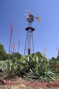 Another windmill on display near Tolar, TX.