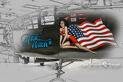 WW II North American B25 Mitchell at the Palm Springs Air Museum, California March 30, 2010