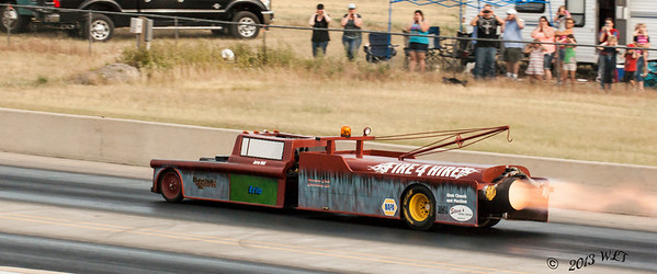 Mater Heading Down the Track